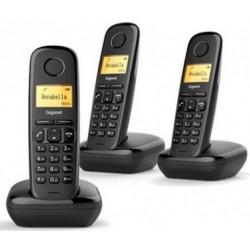 Telefono Inalambrico Gigaset A170 Negro Trio