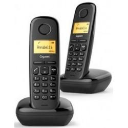 Telefono Inalambrico Gigaset A170 Negro Duo