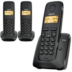 Telefono Inalambrico Gigaset A120 Negro Trio