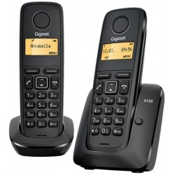 Telefono Inalambrico Gigaset A120 Negro Duo