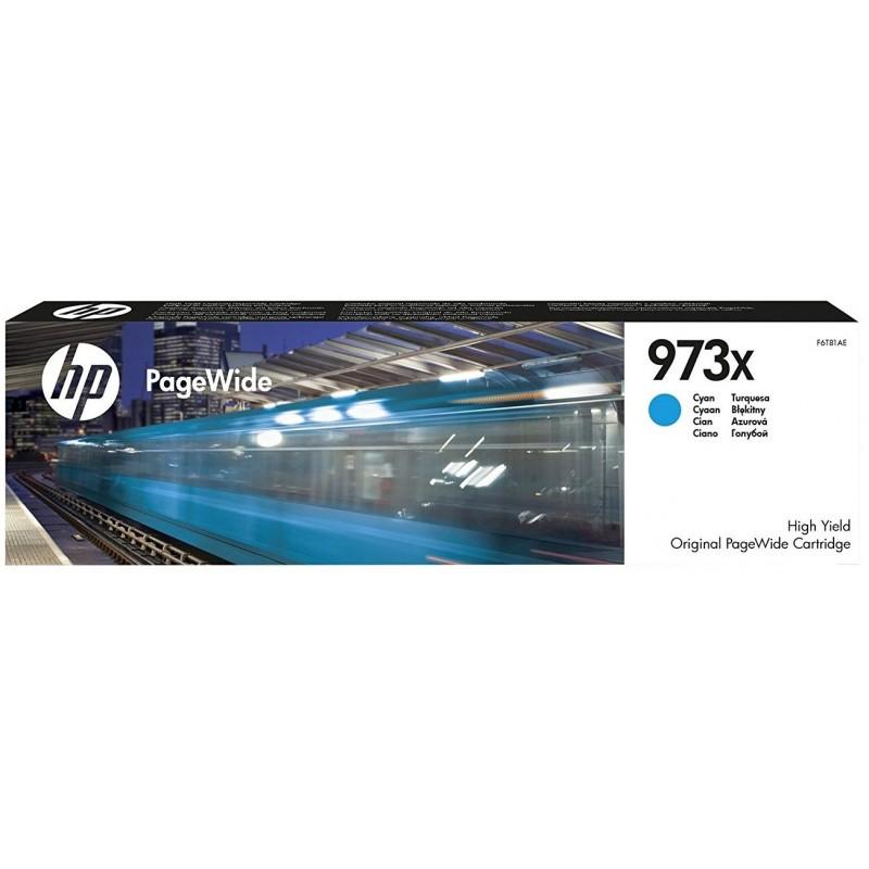 Tinta HP 973XL Cian F6T81AE