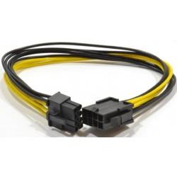 Cable Alimentación PCIe 6+2 pines M/H 0,3m Cablexpert