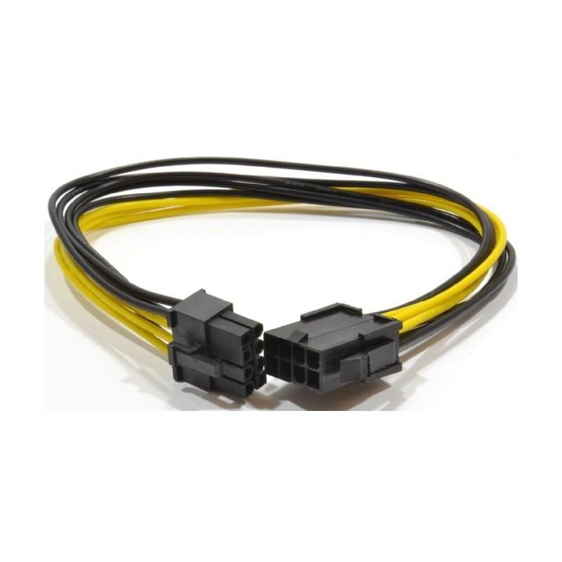 Cable Alimentacion PCIe 6+2 pines M/H 0,3m Cablexpert