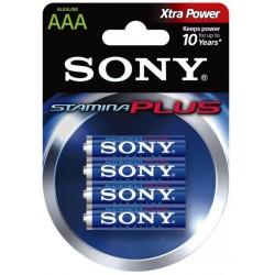 Pila AAA Sony Alcalina Stamina Plus 4 Unidades