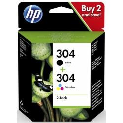 Tinta HP 304 Pack Negro/Color 3JB05AE