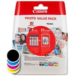 Tinta Canon 581XL Pack de los 4 Colores