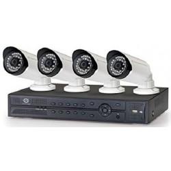 Kit de Vigilancia Conceptronic 4 Canales con 4 Cámaras PoE