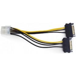 Cable Alimentacion PCIe 8 pines / 2 SATA Cablexpert