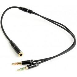 Cable Jack 3,5mm 2xM / H Cablexpert M