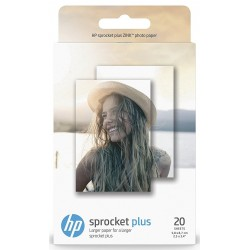 Papel Fotografico Adhesivo 5,8x8,7cm HP Sprocket Plus ZINK 20 Uds