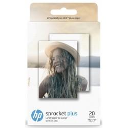 Papel Fotográfico Adhesivo 5,8x8,7cm HP Sprocket Plus ZINK 20 Uds