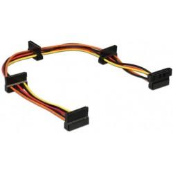 Cable Alimentacion SATA M / 4x SATA H 0,4m Cablexpert
