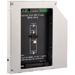 Adaptador de DVD de portatil para memoria SSD M.2 9,5mm
