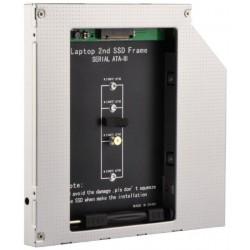 Adaptador de DVD de portátil para memoria SSD M.2 12,7mm