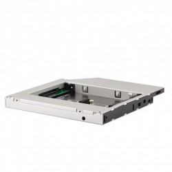 Adaptador de DVD de portatil para memoria SSD M.2 12,7mm
