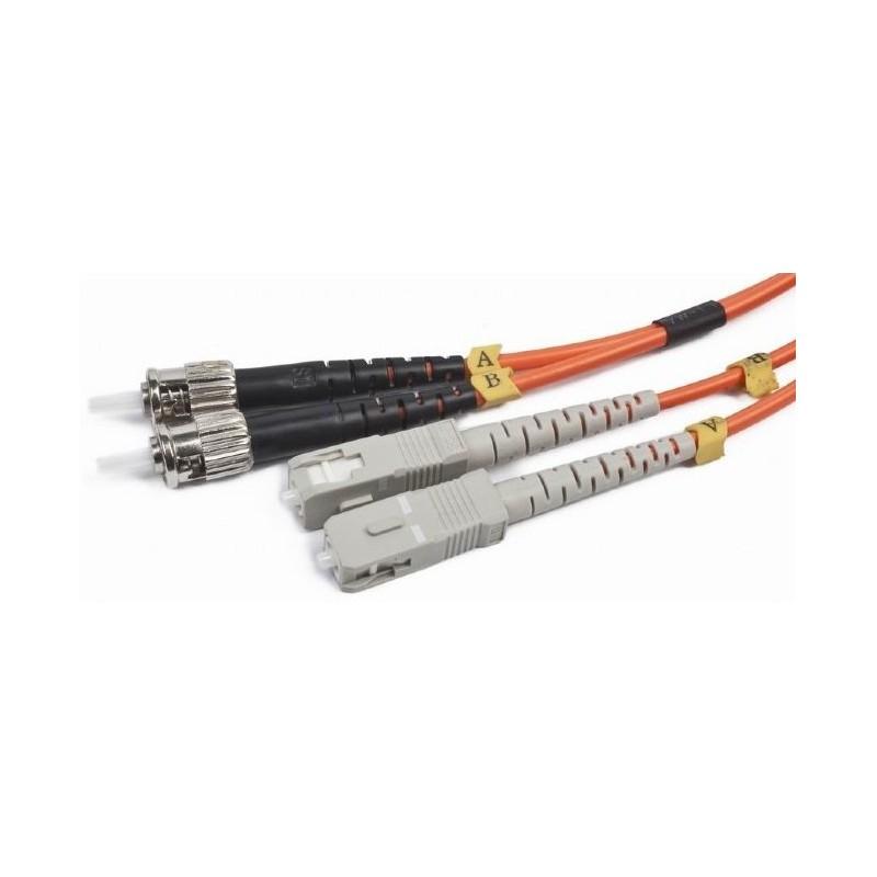 Cable de Fibra Duplex Multimodo ST/SC 2m Cablexpert
