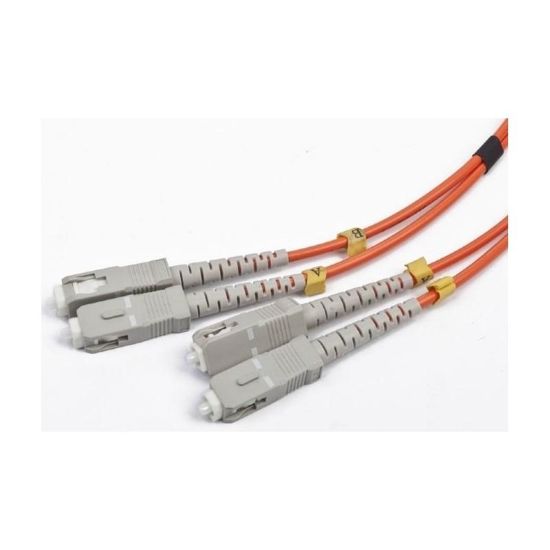 Cable de Fibra Duplex Multimodo SC/SC 1m Cablexpert