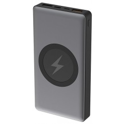 Batería Externa 10000 Platinet con Carga Inalámbrica Qi PMPB10WCS