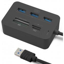 Lector de Tarjetas + Hub Usb 1Life cr:complete USB 3