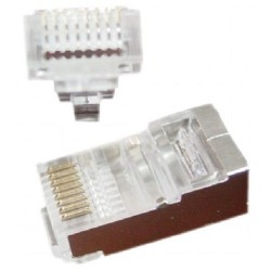 Conector RJ45 CAT.5 FTP Gembird 100 Unidades para Cable Sólido