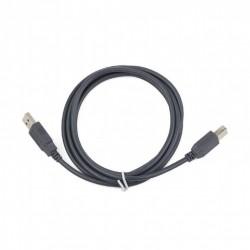 Cable USB AM - USB BM 1,8m Cablexpert Gris