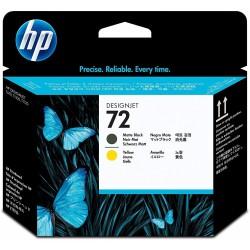 Cabezal de Impresión HP 72 Amarillo/Negro Mate C9384A