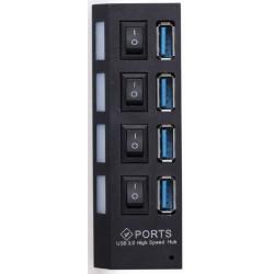 Hub USB 3.0 de 4 Puertos Gembird con Interruptor UHB-U3P4-22
