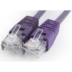 Latiguillo de Red Cat.5e UTP 0,50m Cablexpert Violeta