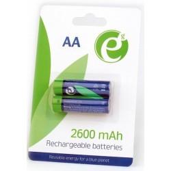 Pila Recargable AA Energenie 2 Unidades 2600 MAH