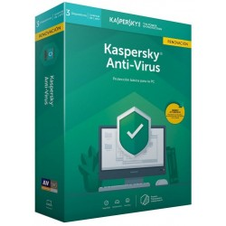 Kaspersky Antivirus 2019 3 Dispositivos 1 Año Renovación