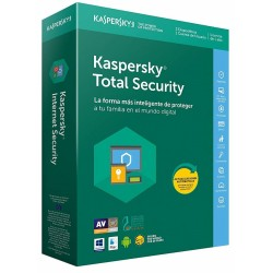 Kaspersky Total Security 2018 3 Dispositivos 1 Usuario 1 Año