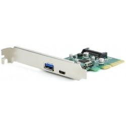Tarjeta PCIe USB 3.1 Tipos A y C Gembird PEX-U31-01