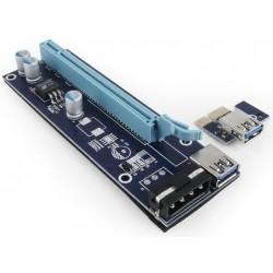 Tarjeta PCIe Complementaria de Riser Gembird RC-PCIEX-01