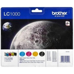 Tinta Brother LC1000 Pack de los 4 Colores