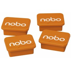 Imanes Nobo Color Naranja de 18 × 22 mm