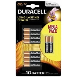 Pila AAA Duracell Simply 10 Unidades