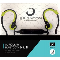 Auriculares Bluetooth Brigmton BML-11-V Verde
