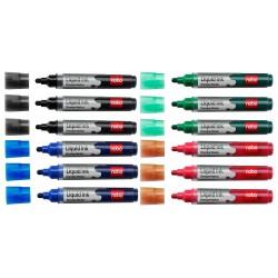 Rotuladores Nobo Liquid 12 Unidades Colores