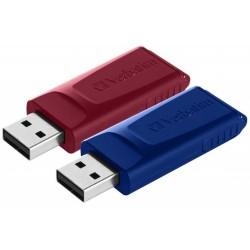 Pendrive de 32GB Verbatim Slider Pack de 2 Unidades