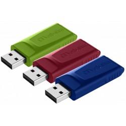 Pendrive de 16GB Verbatim Slider Pack de 3 Unidades