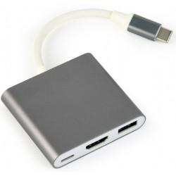 Adaptador USB TypeC a USB-C/HDMI/USB 3.0 Cablexpert
