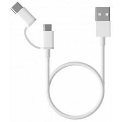 Cable USB AM - MicroUSB/TypeC M 30cm Xiaomi