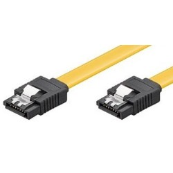 Cable SATA III Datos 0,5m Ewent Amarillo Clips Metal