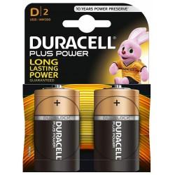 Pila D Duracell PlusPower LR20 2 Unidades