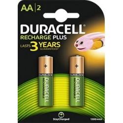 Pila Recargable AA Duracell Plus 2 Unidades