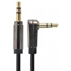 Cable Jack 3,5mm M/M 0,75m en Ángulo Recto Cablexpert