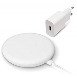 Cargador Inalambrico Qi Xiaomi Mi Wireless Charger 20W Blanco