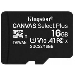 Tarjeta MicroSD 16GB Kingston Canvas Select Plus
