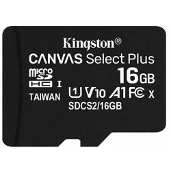 Tarjeta MicroSD 16GB Kingston Canvas Select Plus