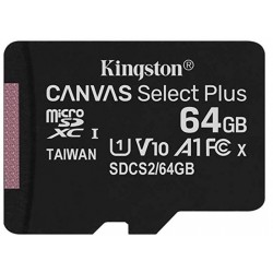 Tarjeta MicroSD 64GB Kingston Canvas Select Plus